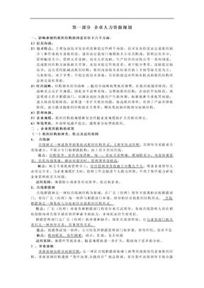 人力二级小抄总结[人力资源管理师]二级考试资料完全版.doc