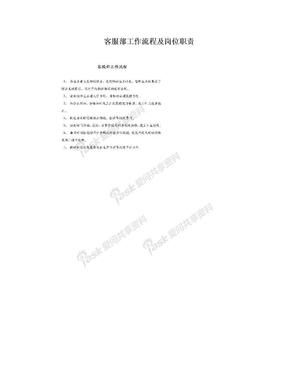 客服部工作流程及岗位职责.doc