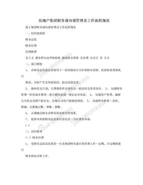 房地产集团财务部内部管理及工作流程规范.doc