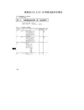 欧姆龙PLC之CP-1H特殊功能寄存器表.doc