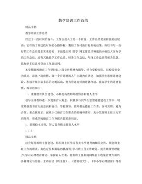 教学培训工作总结.doc
