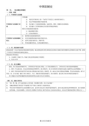 强烈推荐:08年考468分考生的笔记——中国法制史.doc