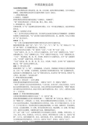 中国法制史总结 .doc