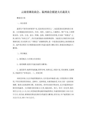 大庄蔬菜大棚建设方案.doc