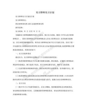 实习律师实习计划.doc