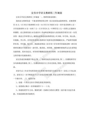 宏育小学语文教研组三年规划.doc