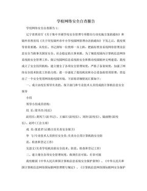 学校网络安全自查报告.doc