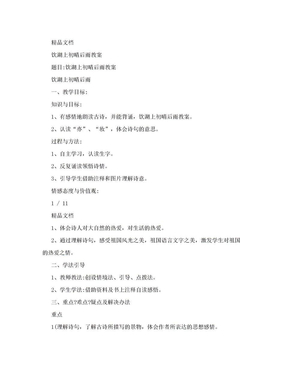 饮湖上初晴后雨教案.doc