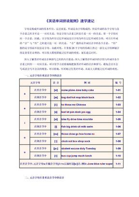 《英语单词拼读规则》速学速记.doc