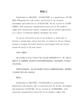 公司英文简介模版.doc