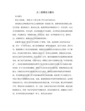大三暑期实习报告.doc