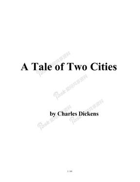 Black Cat 有声名著阶梯阅读 可编辑word版-【6】4 A Tale of Two Cities 双城记.doc