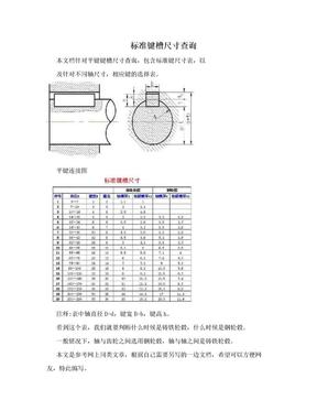 标准键槽尺寸查询.doc