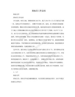 投标员工作总结.doc