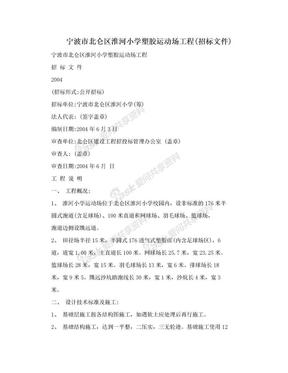 宁波市北仑区淮河小学塑胶运动场工程(招标文件).doc