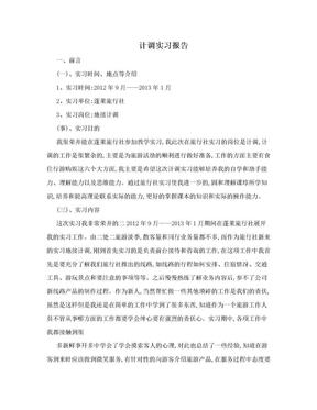 计调实习报告.doc