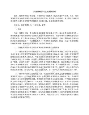 商业管理公司全面预算管理.docx