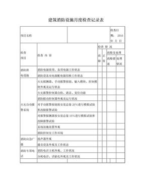 消防设施月度检查表.doc