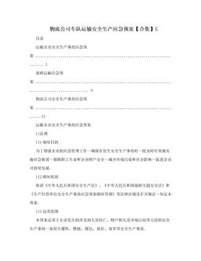 物流公司车队运输安全生产应急预案【合集】5.doc