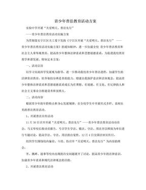青少年普法教育活动方案.doc