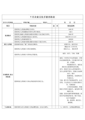 企业文化考核表.doc