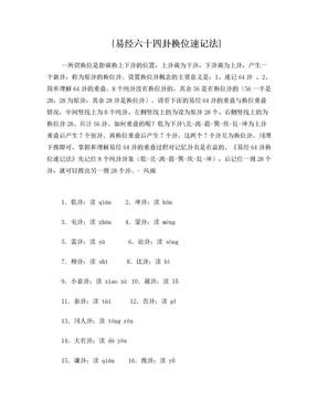 易经64卦速记法1111.doc