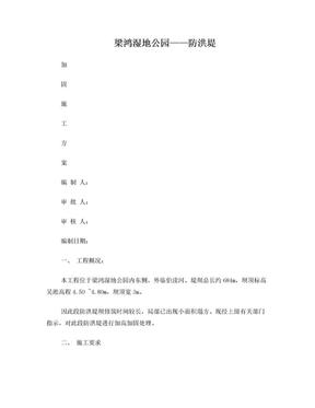 防洪堤加固方案.doc