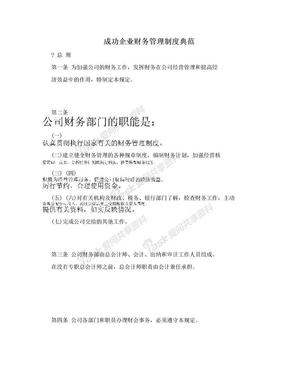 成功企业财务管理制度典范.doc