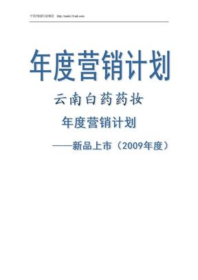 2009年云南白药药妆产品年度营销计划书.doc