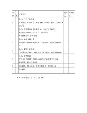 周计划工作表.doc
