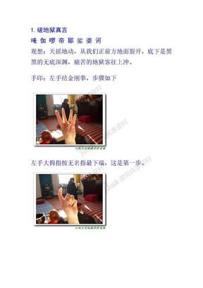 施食咒手印图片施食手印真人版.doc