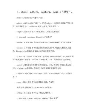 考研词汇辨析104组.doc