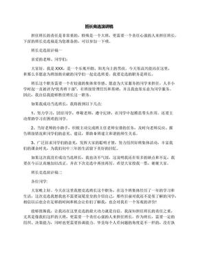 班长竞选演讲稿.docx