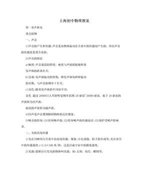 上海初中物理教案.doc