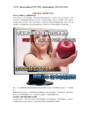 摆脱3D眼镜 详解裸眼3D技术.doc
