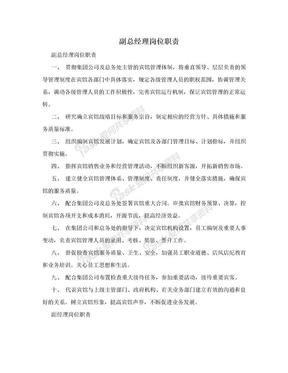 副总经理岗位职责.doc