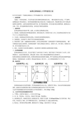 标准足球场地人工草坪建设方案.docx