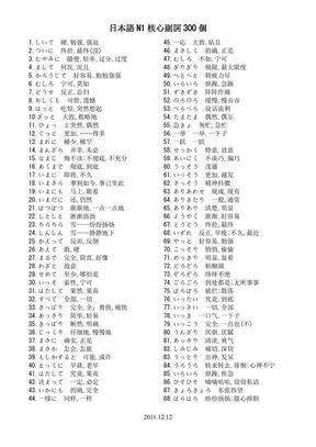 日语N1核心副词300(完美打印版).pdf