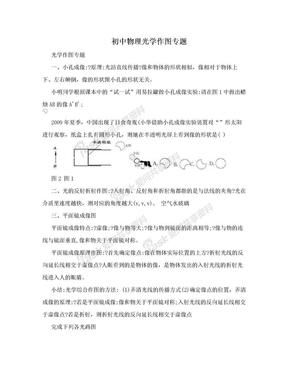 初中物理光学作图专题.doc