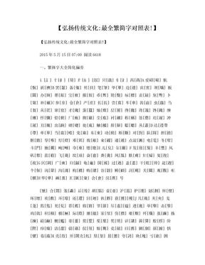【弘扬传统文化:最全繁简字对照表!】.doc