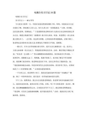 电视台实习日记30篇.doc
