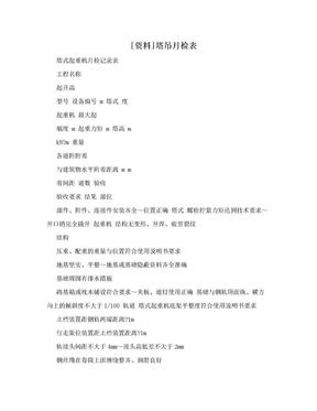 [资料]塔吊月检表.doc