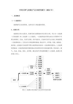 我国天然气及煤层气行业研究报告(2011).doc