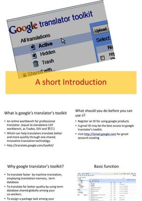 google translator's Toolkit.ppt
