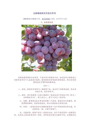 自制葡萄酒及其食疗作用.doc