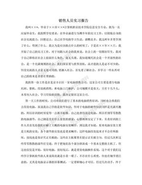 销售人员实习报告.doc