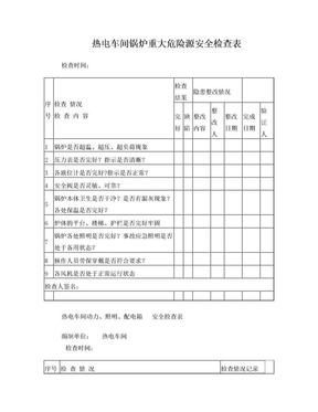 火力发电厂全套安全检查表.doc