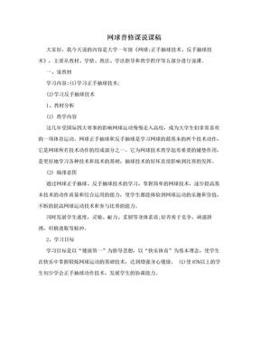 网球普修课说课稿.doc