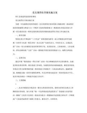 党支部晋位升级实施方案.doc