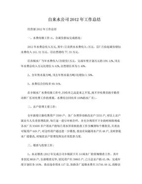 自来水公司2012年工作总结.doc